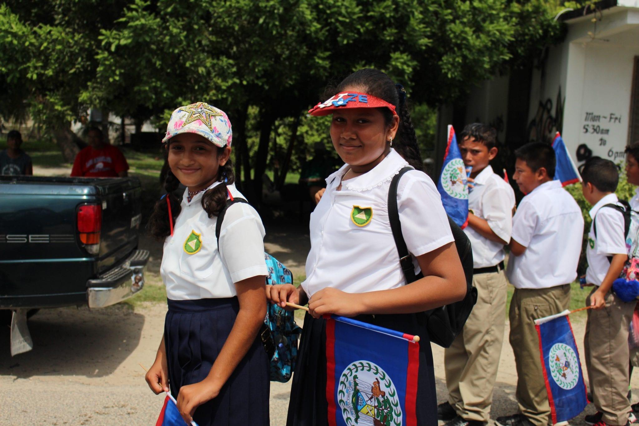 School Children March in Celebration