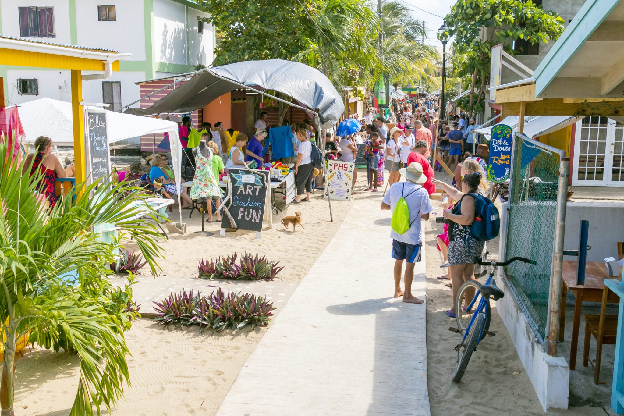 Caribbean Culture and Lifestyle: Placencia Sidewalk Art and Music Festival